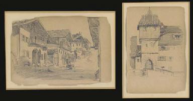 ARCHITECTURAL STUDIES, TWO PEN
