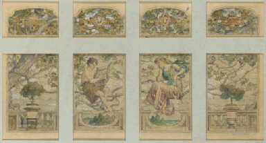 STUDY FOR A FOUR-PANEL WINDOW,