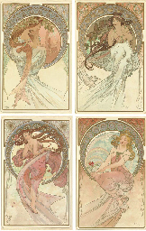 'THE ARTS', A SET OF FOUR LITH