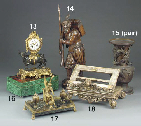 A malachite and boulle-work ve