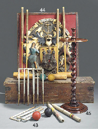An English croquet set