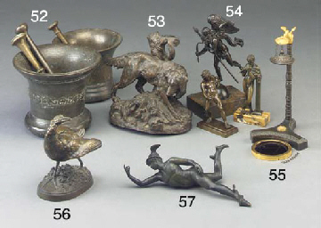 A French bronze model of a gam