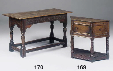 AN OAK LOW TABLE OR CREDENCE T