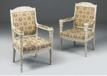 A PAIR OF GILT METAL MOUNTED A