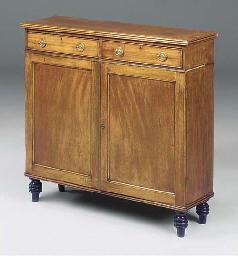 A mahogany and ebonised side c