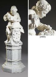 Young Michelangelo sculpting