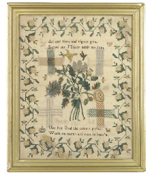 A darning sampler worked by Ha