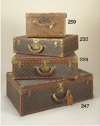 A Louis Vuitton suitcase cover