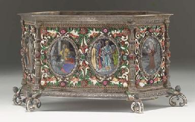 A Renaissance-style silver-gil