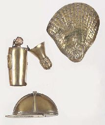 Eight various base metal vesta