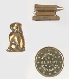 Ten various base metal vesta c