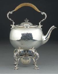 A GEORGE II STYLE SILVER TEA K