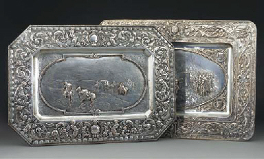 A COLLECTION OF SILVER PLATE A