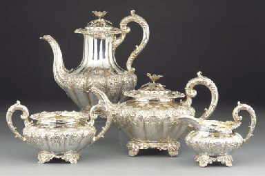 A William IV Silver Tea and Co