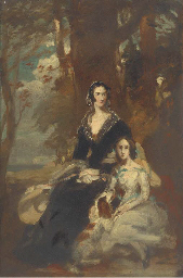 Portrait of two ladies, small