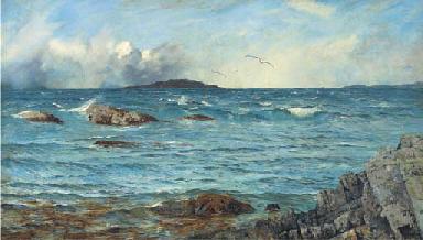 Across the sea to the island b