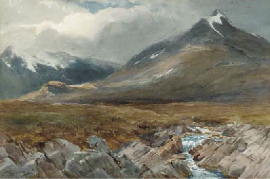 Mountain and river, Blackmount
