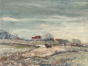 Houses on a moor