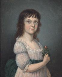 Portrait of a girl, half-lengt