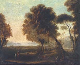 Figures in an arcadian landsca
