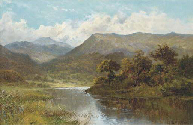 A river in a mountainous lands