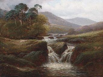 A Highland stream; and Cattle