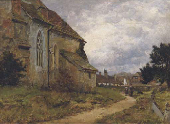 The village church, Shere, Sur