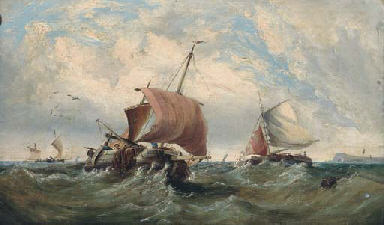 Fishing boats in a swell