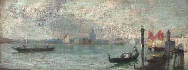 Figures in a gondola, Santa Ma