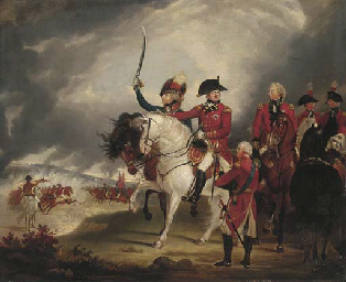 King George III reviewing the