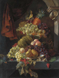 Grapes, pears, peaches, plums,