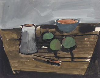 Still life with fruit and jug