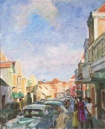 A street scene in Curaçao