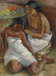 Two girls, possibly from Tahit