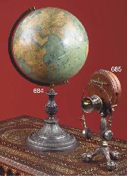A German terrestrial globe