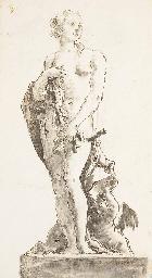 Vénus debout sur un entablemen