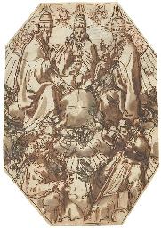 Trois papes autour d'un globe