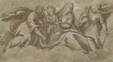 La Vierge à l'Enfant avec Sain