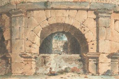 Vue d'une arche du Colisée à R