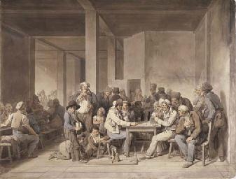 Un cabaret à Paris en 1815