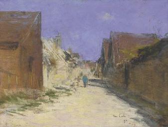 Une rue dans un village, un ho