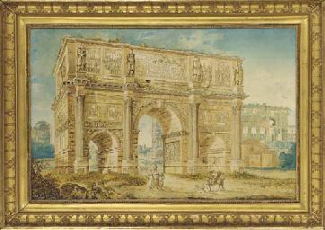 L'Arc de Constantin à Rome, de