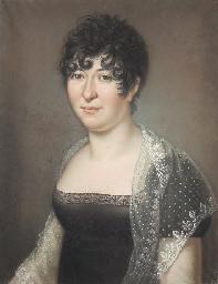 Portrait de femme portant une