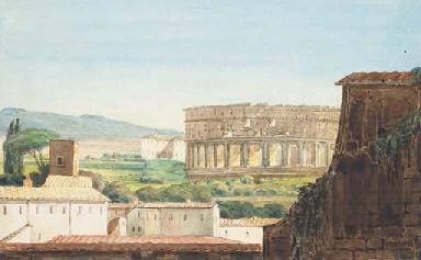 Vue du Colisée à Rome depuis l
