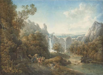 Un paysage avec des chutes d'e
