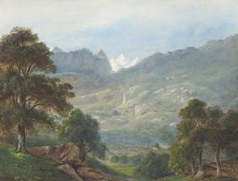 Un paysage montagneux, avec un