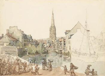 Une vue de Harfleur en Normand