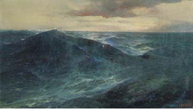 Stormy wheather at sea
