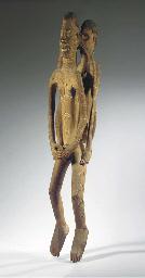 an asmat wood ancestor figure