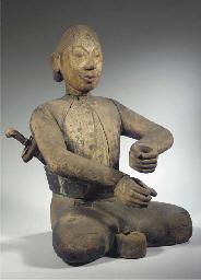 a javanese wood figure